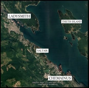 Chemainus location map