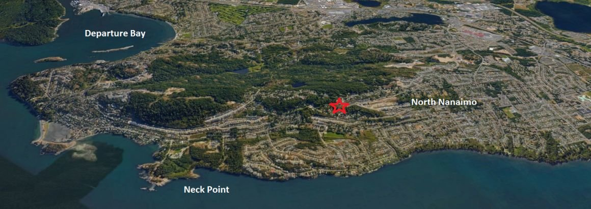 Hawk Point ocean view lots, Nanaimo - location