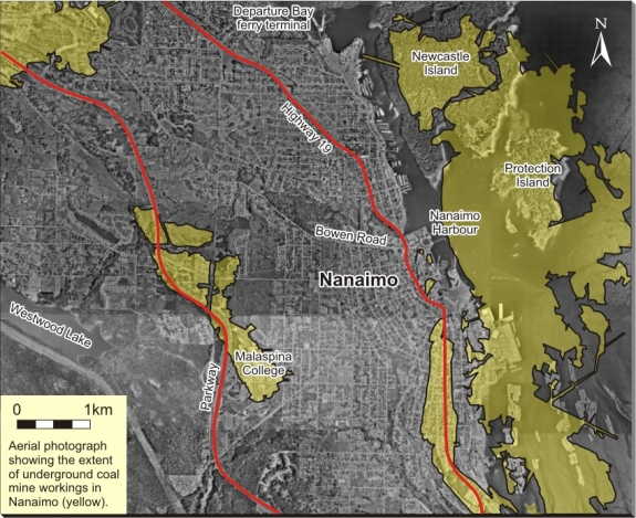 Nanaimo Coal Mines Map