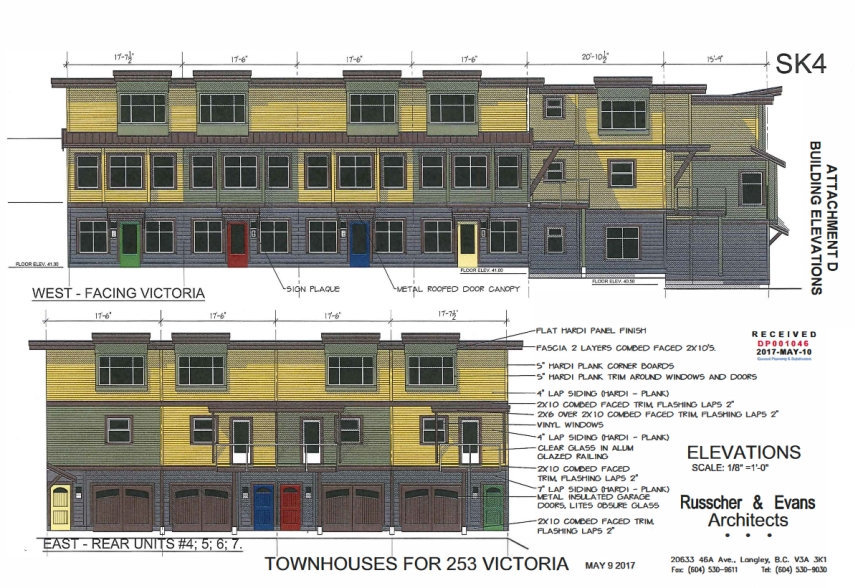 253 Victoria Rd townhomes proposed design