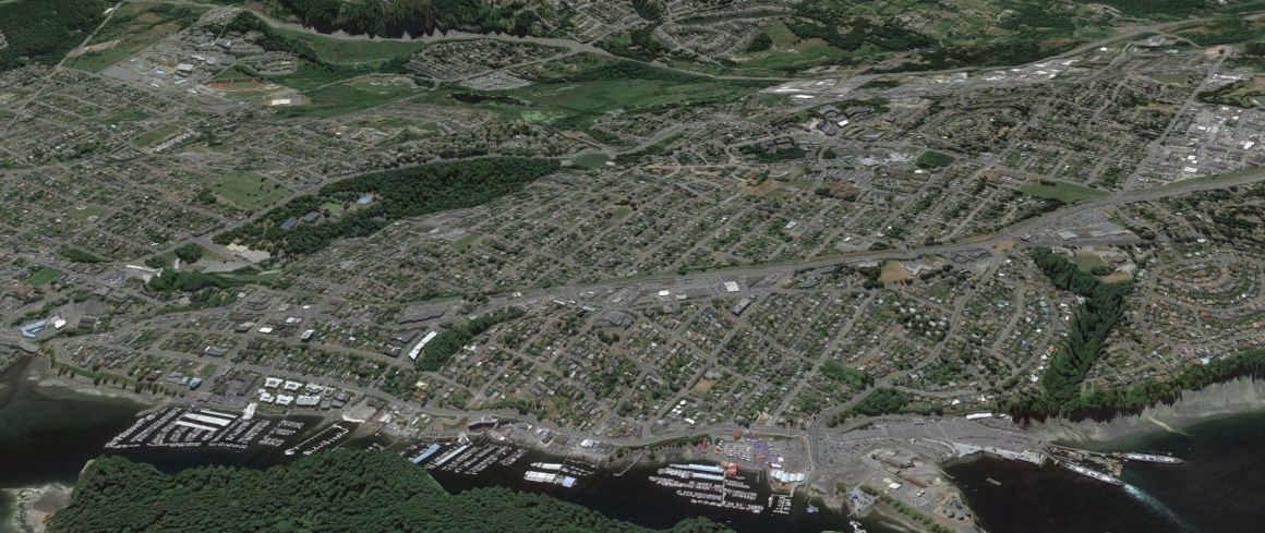 Central Nanaimo from space