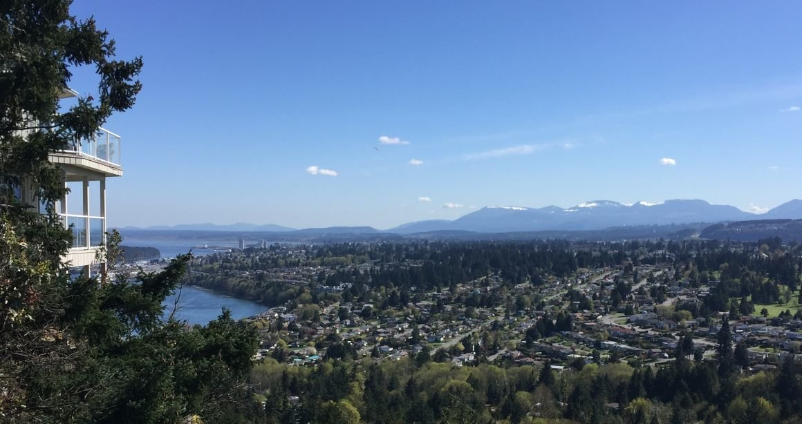 View of Departure Bay and Downtown Nanaimo from Edgewood Townhomes