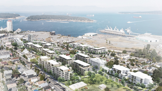 Harbourview Nanaimo - early vision rendering