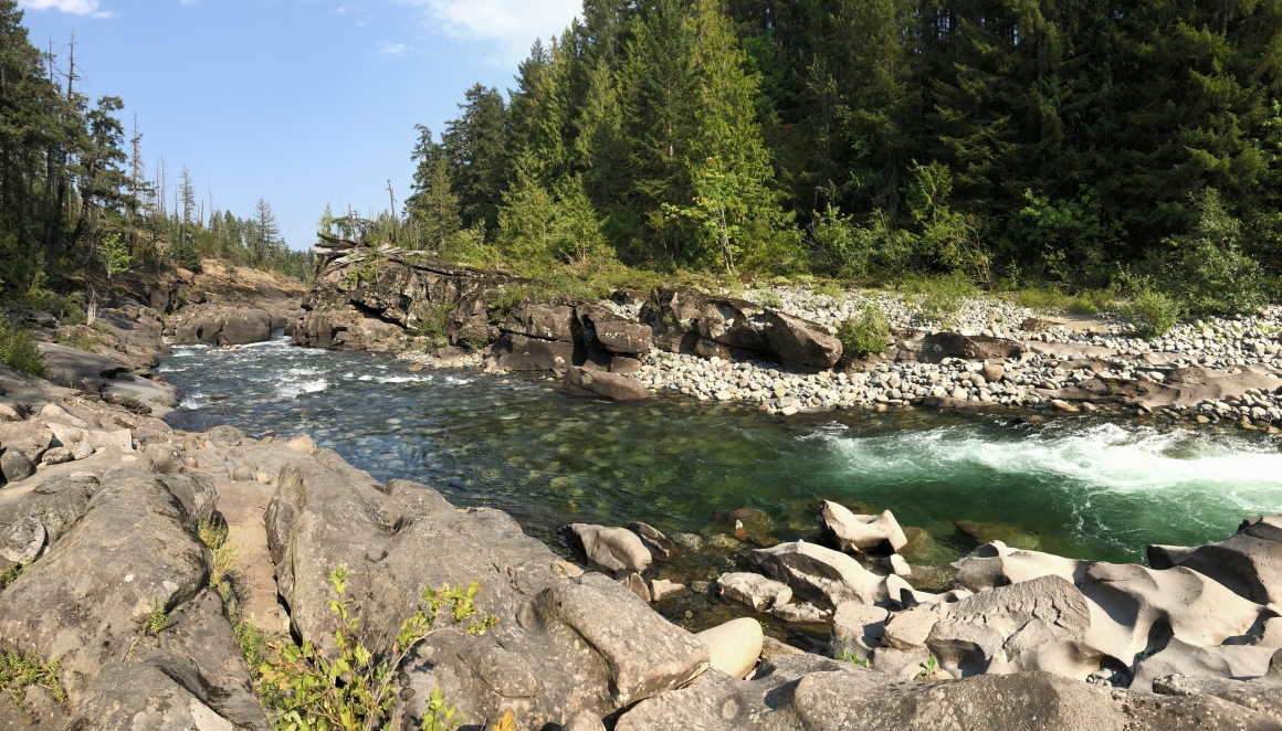 Nanaimo River chute & canyon