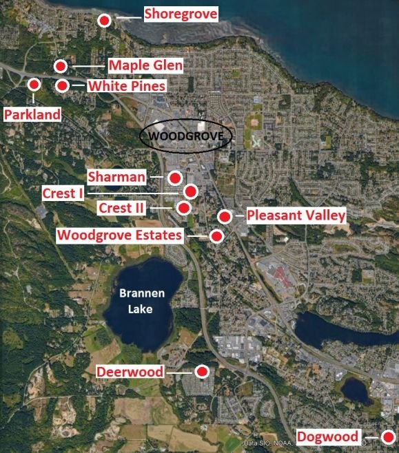 Mobile home parks in North Nanaimo & Lantzville