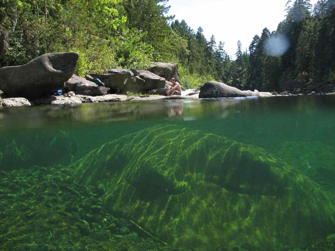 Over under photo at Nanaimo River