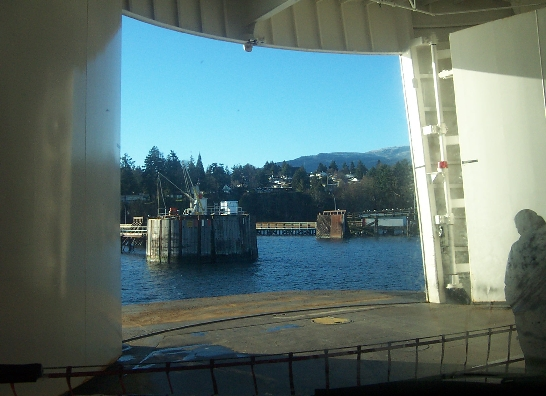 BC Ferries disembarkation